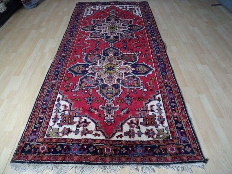 "Long Persian Design Hall Runner Carpet Rug Hand Made Wool 9 Ft 9"" X 4 Ft 6"