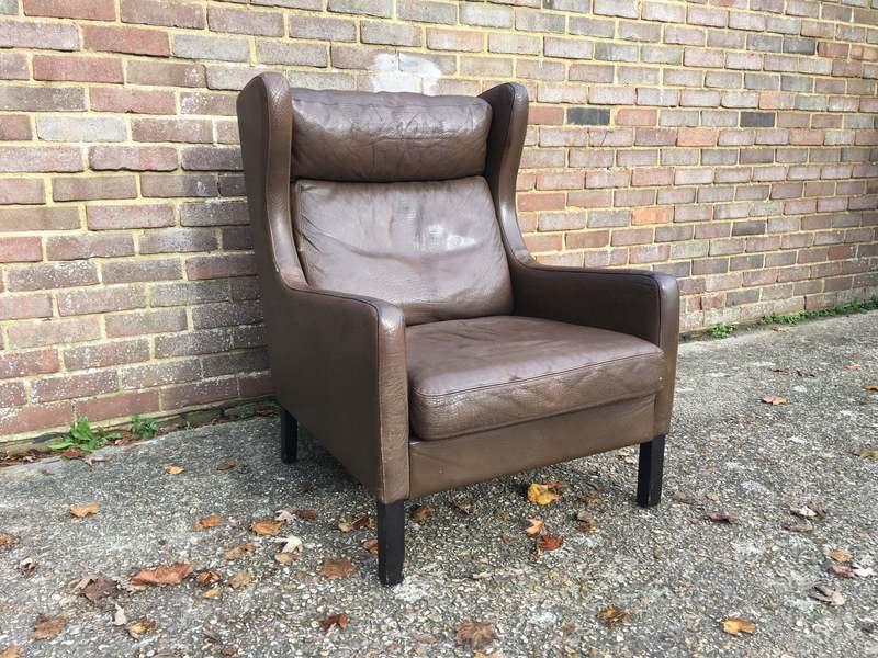 Danish 224 Wing Chair Borge Mogensen