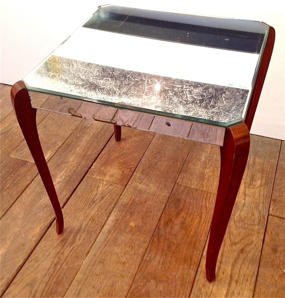 French Mirrored Side Table