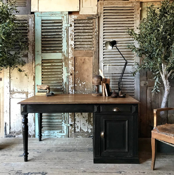 Vintage French Desk With Cupboard And Drawer