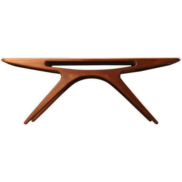 """1950s Johannes Andersen """"The Smile"""" Coffee Table In Teak By Cfc Silkeborg"""