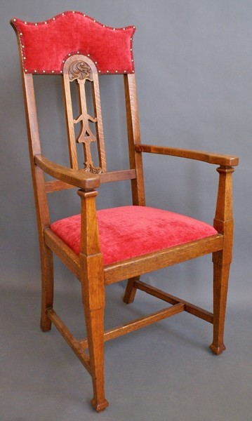An Arts And Crafts Arm Chair In The Manner Of Shapland And Petter