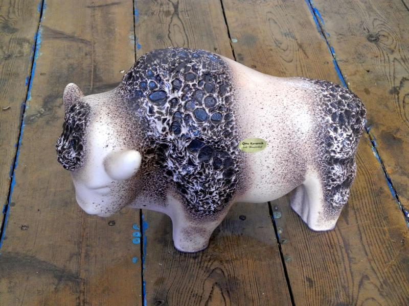 Otto Ceramic Ceramic Bull West German Pottery Fat Lava