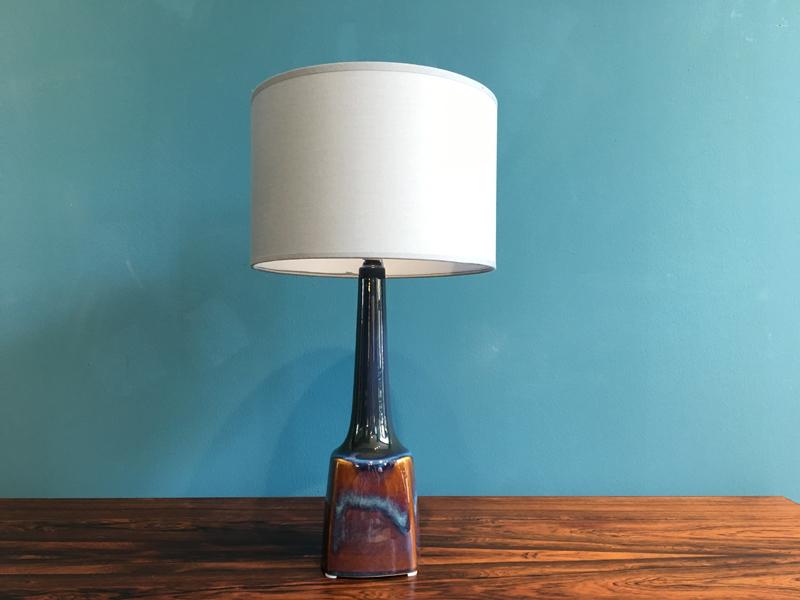 Danish Ceramic Table Lamp From Soholm, 1960s