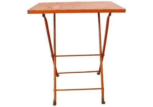 Folding Table Patio Garden Bistro Cafe Metal Vintage French Circa 1960