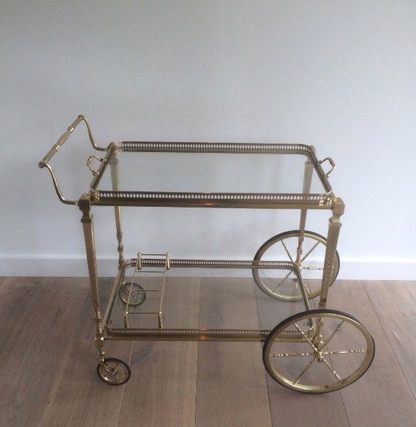 In The Style Of Maison Jansen. Very Nice Brass Trolley. Circa 1940