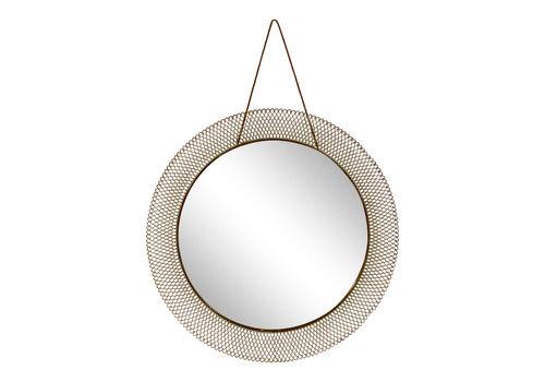 1950s Italian Circular Mesh Mirror