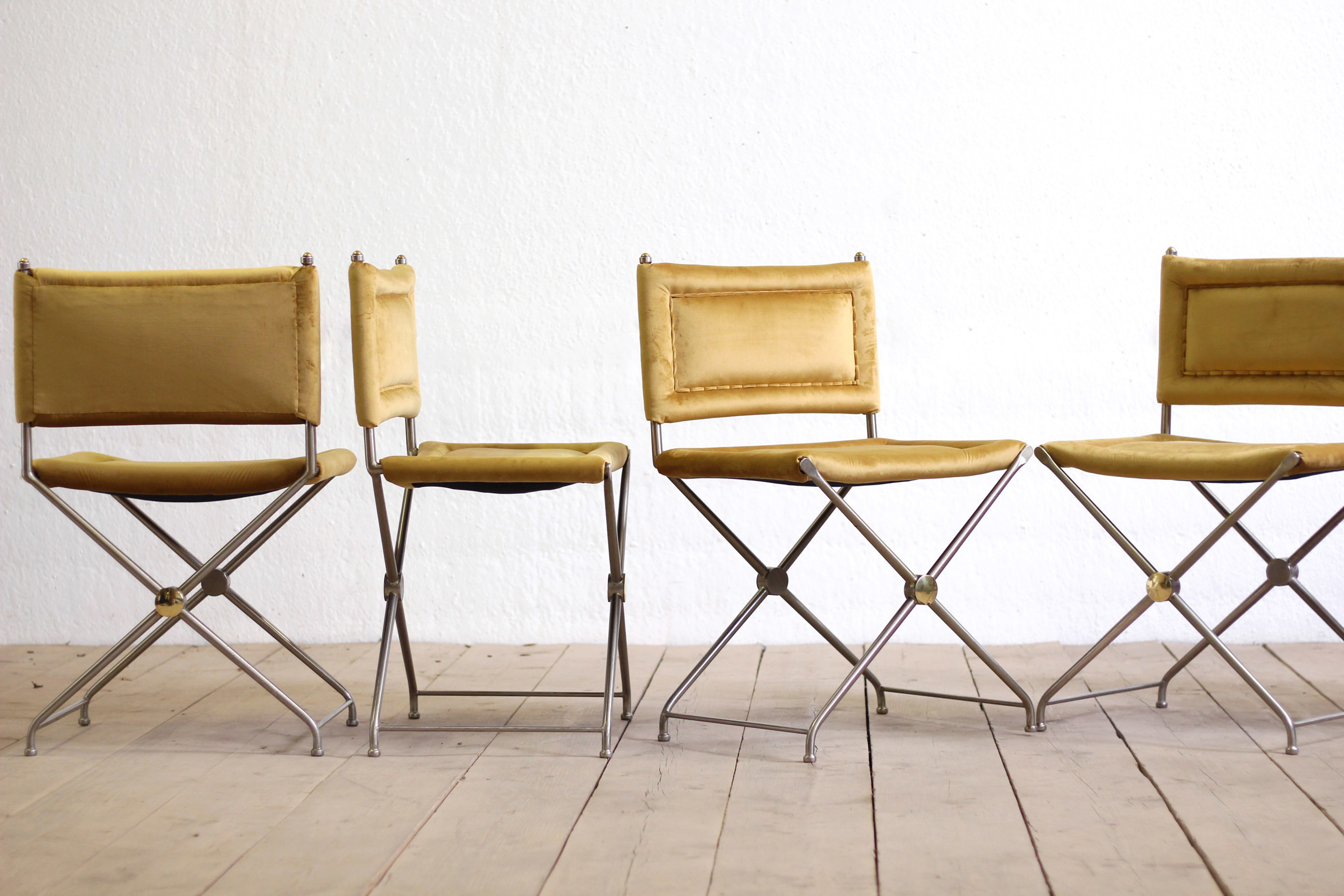 Picture of: 6 X Vintage Mid Century Modern Dining Chairs By George Ciancimino Designers Guild Upholstery George Ciancimino George Ciancimino Vinterior