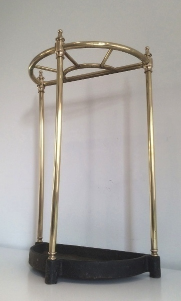 Brass And Cast Iron Umbrella Stand. Circa 1900