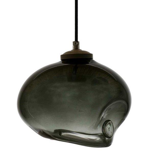 Black Handmade Glass Pendant Light