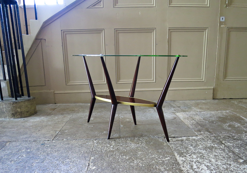 Glass Coffee / Side Table By An Italian Cabinetmaker