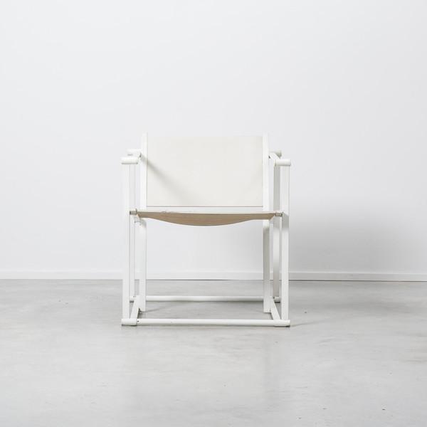Radboud Van Beekum For Pastoe White Fm60 Cube Chair   20% Off Sale photo 1