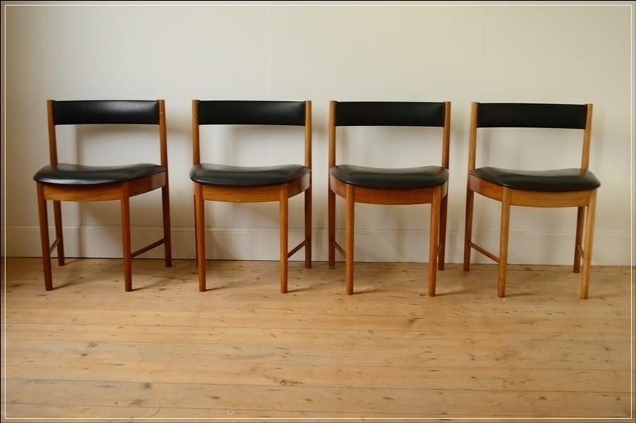 Vintage Teak Mc Intosh Dining Chairs Set Of 4, Danish Design