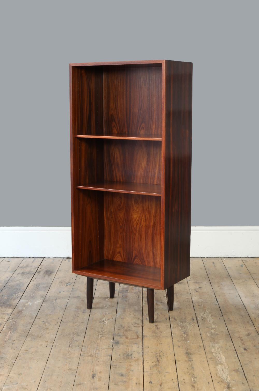 Tall Mid Century Danish Rosewood Bookcase