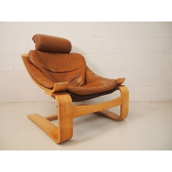Ake Fribytter For Nelo Mobler Kroken Chair In Tan Leather