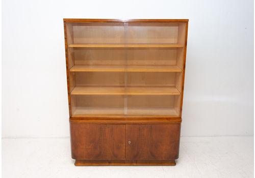Mid Century Vintage Bookcase In Walnut, 1960´S, Czechoslovakia