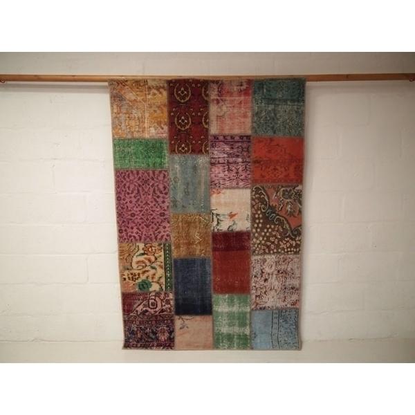 Vintage Patchwork Over Dyed Rug