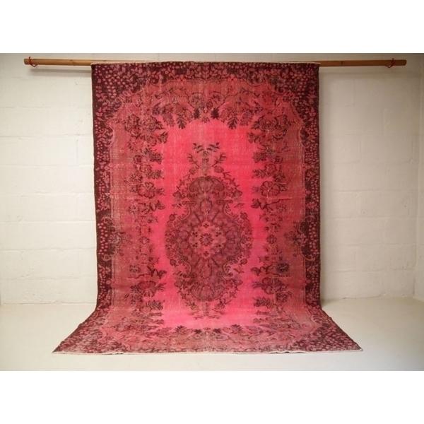 Pink Vintage Turkish Over Dyed Rug photo 1