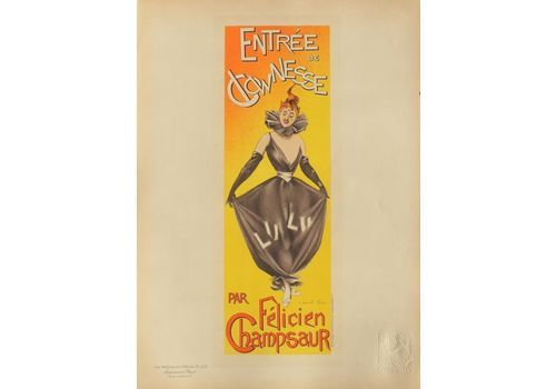 Charle Lucas   Lithograph Poster   Entrance Of The Clowns By Champsaur