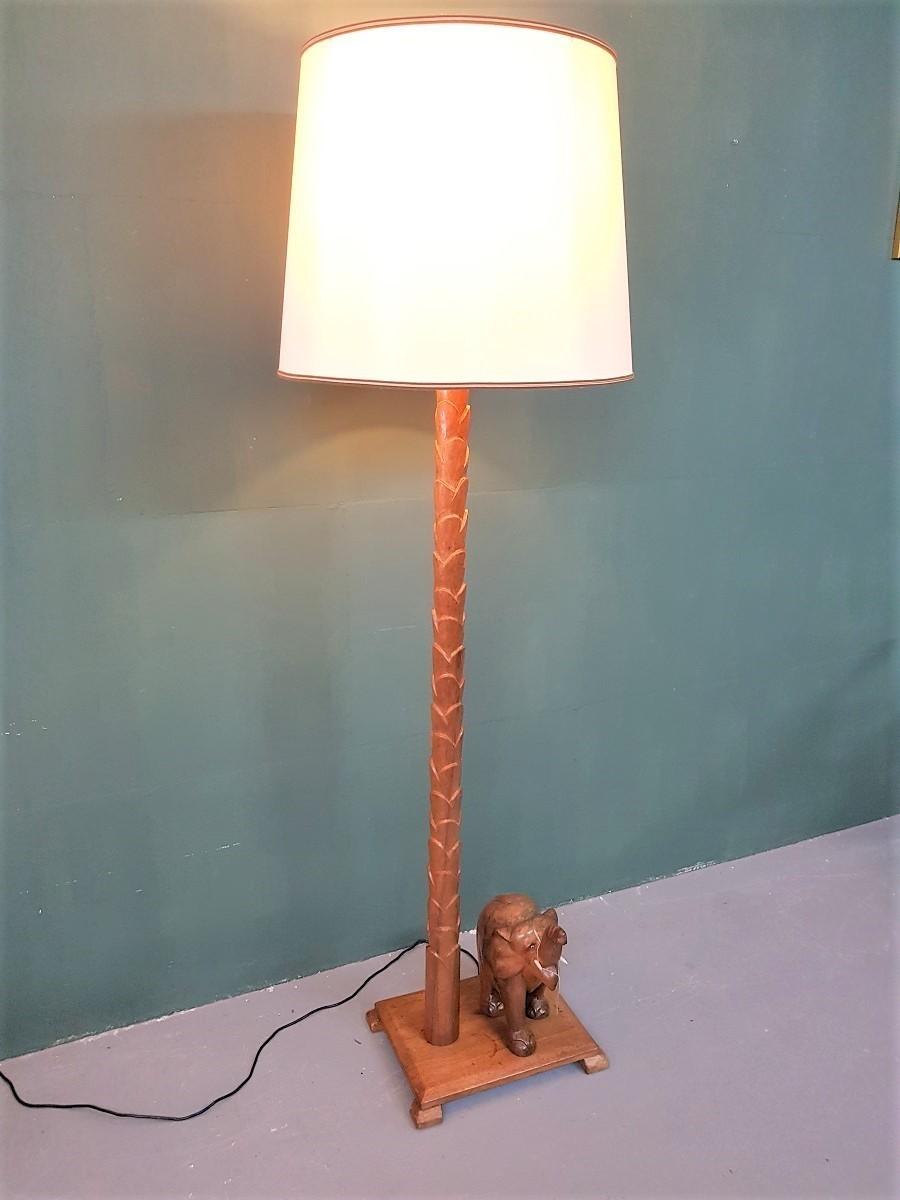 Unique O Id Vintage South African Wooden Floorlamp Unknown Vinterior