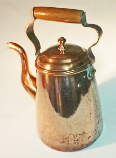 Copper Coffee Pot   Antique   English