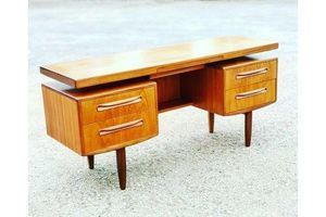 Thumb g plan desk fresco dresser with mirror mid century desk dressing table sideboard 1960s 0