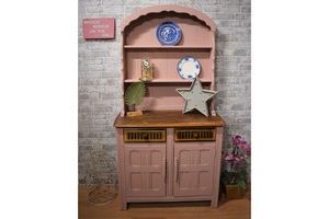 Thumb pink solid priory oak dresser ercol style dutch top unknown 0