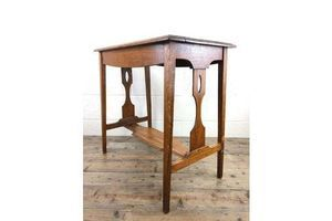 Thumb early 20th century antique oak arts and crafts side table 1920s 0