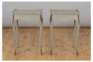 Thumb pair of french painted bedside cabinets tables 0