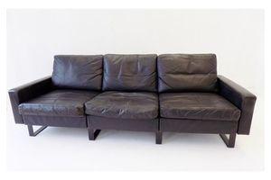 Thumb cor conseta 3 seater sofa black leather 0