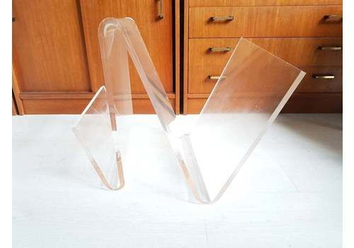 Vintage Lucite Or Perspex Magazine Holder Rack From 1970s 1980s