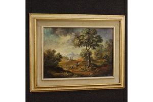 Thumb italian landscape with characters painting unknown 0