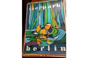 Thumb vintage 1980s tierpark berlin original zoo poster advertising of a mandarin duck 0d7c3d4b 8587 47ca bd72 57b43e0b3894 0
