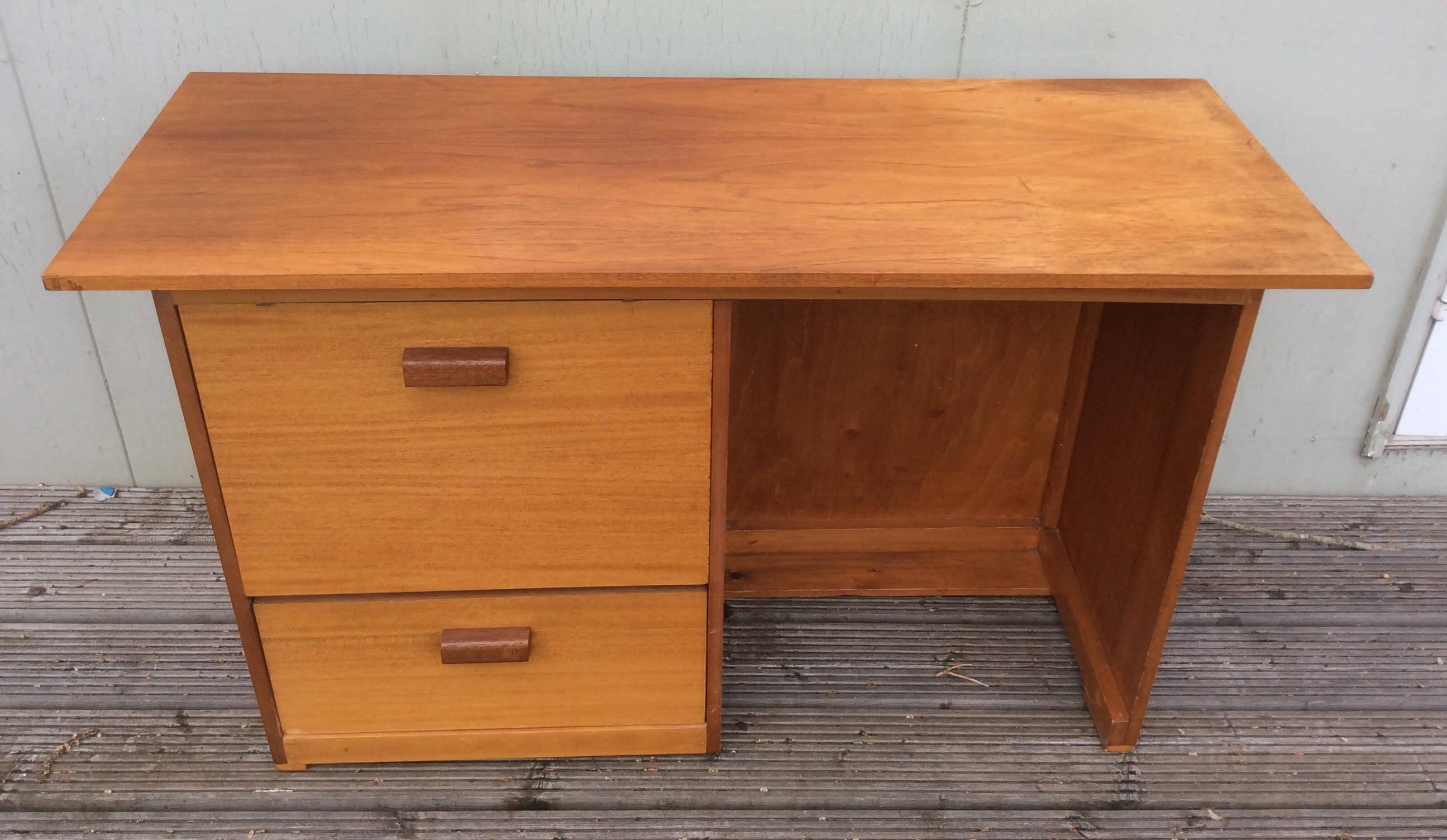 mid century teak desk midcentury desk office furniture