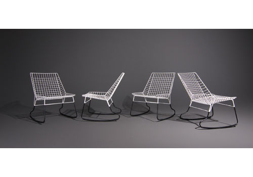 Cees Braakman Rocking Chair Produced By Pastoe, Set Of 4