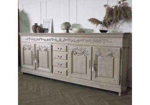 Extra Large French Oak Sideboard Farmhouse Buffet Dresser