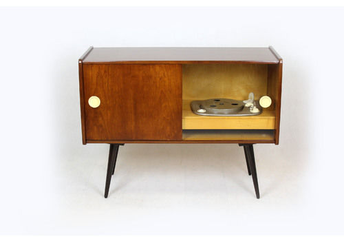 Vintage Record Player Cabinet From Supraphon, 1959