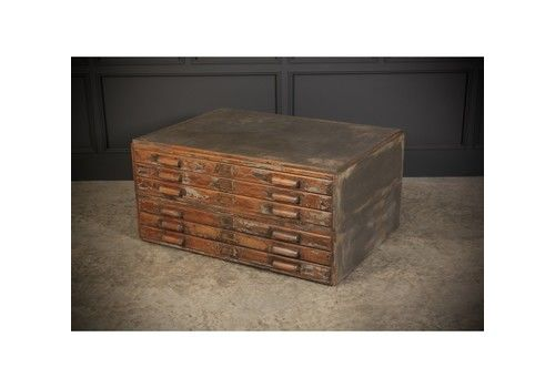 Rustic Oak Plan Chest