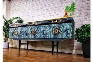 Thumb stunning 1960s retro vintage credenza sideboard tv stand tropical side cabinet fully restored original collectors piece 1960s united kingdom of great britain and northern ireland 0