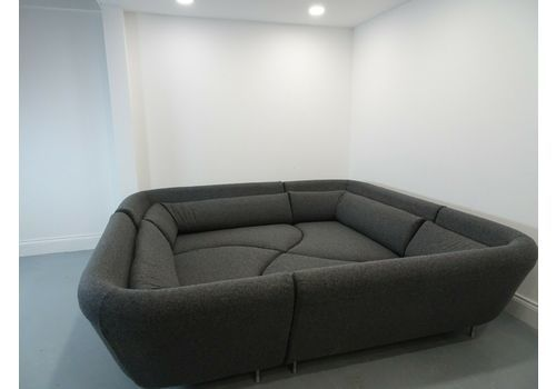 Rare Colossal Ligne Roset Yang 4 Piece In Soft Charcoal Lambswool