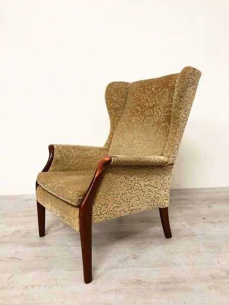 Vintage Parker Knoll Mid Century Wing Back Easy Lounge Chair Model Pk 750 Parker Knoll Vinterior