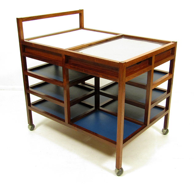 Bodil Kjaer Rosewood Serving Trolley photo 1