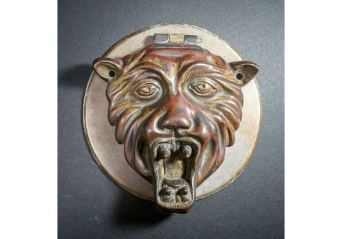 Expressive 17th Century Bronze Doorplate