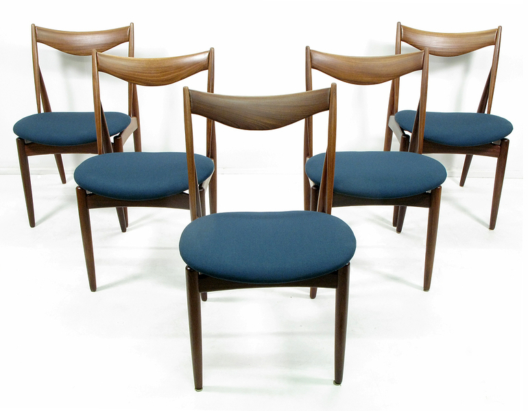 Set Of Five Kurt Ostervig For Bramin Dining Chairs photo 1