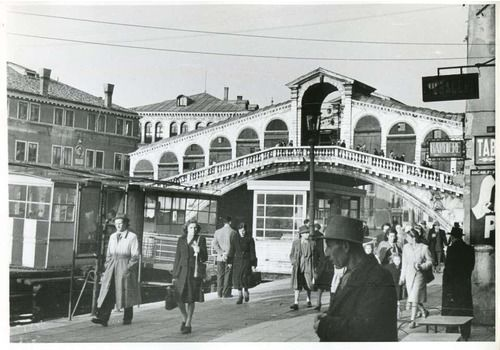 Erich Andres Venice   Rialto Bridge 1954 1954