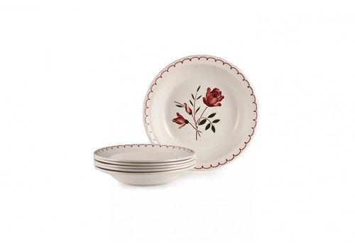 Vintage Set Of Floral Plates