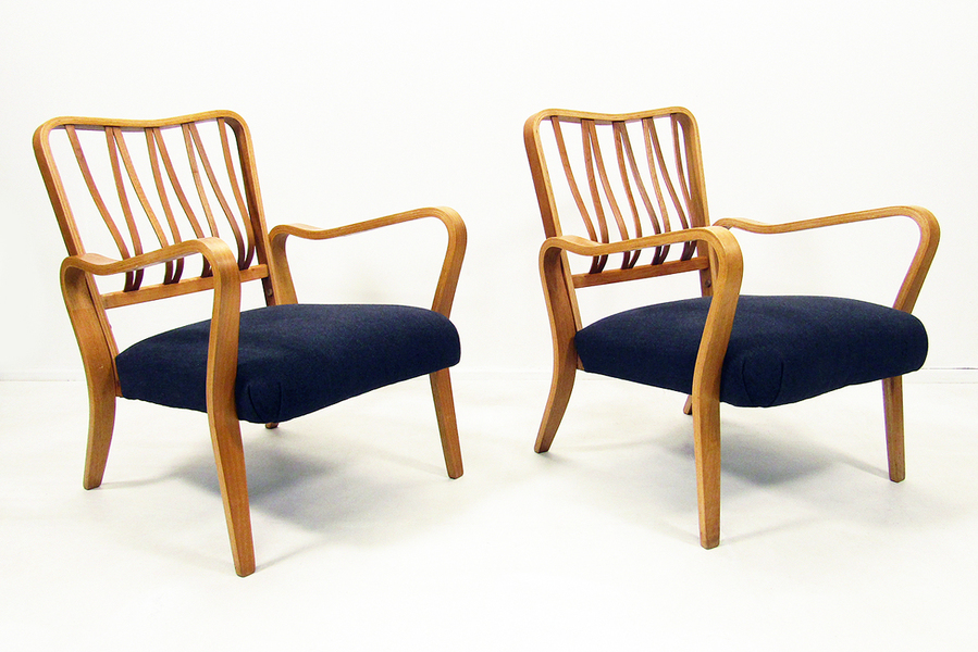 Pair Of G A Jenkins For Packet Furniture Linden Louge Chairs photo 1