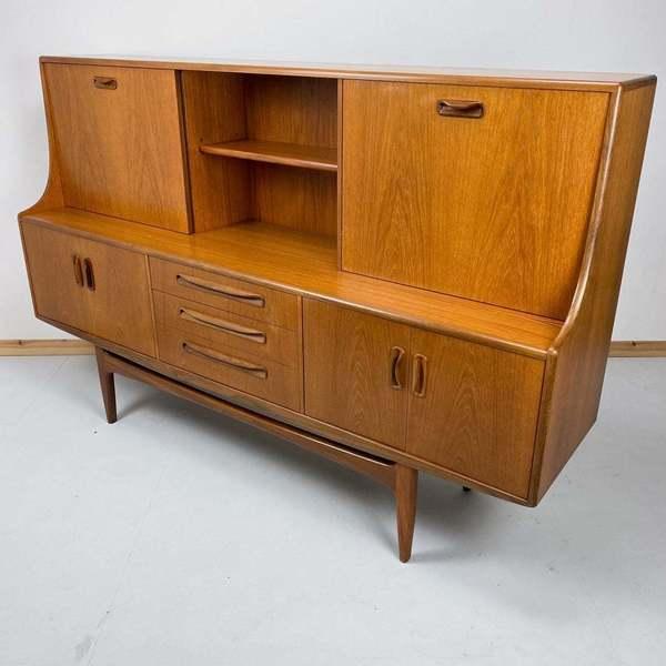 SOLD; G Plan Sideboard VB Wilkins Geometric Highboard Credenza teak Danish style Retro Skandi 1960/'s vintage