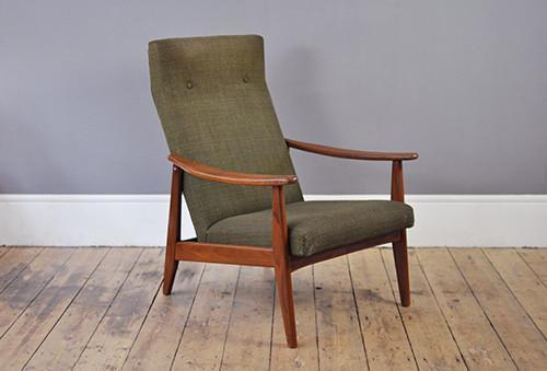 High Back Green Armchair photo 1