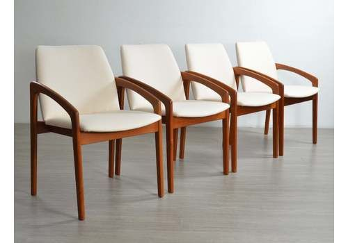 Set Of Four 'Paper Knife' Dining Chairs In The Style Of Kai Kristiansen